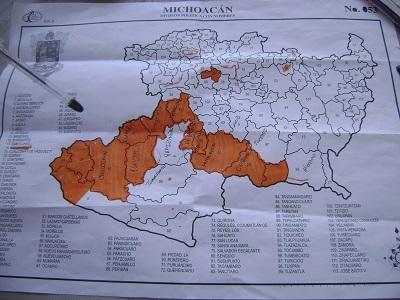 Mapa. Territorios liberados de los templarios.