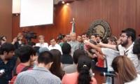 FotoNota. Rechazados de la UAS acuden al Congreso