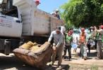 Sergio Torres, otra vez, promete apoyo a familias afectadas por lluvias