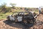 Hallan calcinada camioneta que participó en balacera en Mocorito