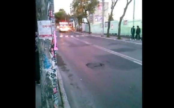 VIDEO capta momento de la explosión frente a Hospital