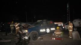 Tres policías federales resultan heridos en choque en Aguaruto