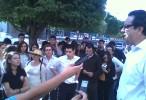 Protestan alumnos por asesinato del estudiante Dimas Verdugo
