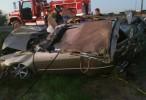Auto en el que murió Ariel Camacho derrapó 80 metros. FOTOS