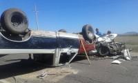Choque aparatoso en Culiacancito deja dos heridos