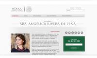 Esconde Presidencia a Angélica Rivera en su portal web