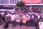 Normalistas de Sinaloa marchan por Ayotzinapa, pese a 'boicot' en plantel