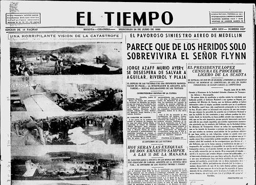 24Junio1935_AccidenteMedellin, El tiempo