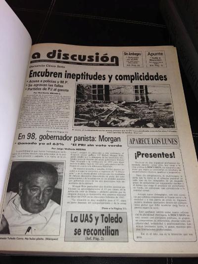 Semanario. Primera edición de A Discusión, en abril de 1996.