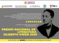 Continuará pendiente el fallo del Premio Nacional de Literatura Gilberto Owen 2020