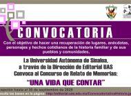 Invita UAS a concurso de relatos de memorias