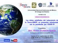 Conferencias | Olivia Salmerón hablará sobre datos satelitales relacionados con la pandemia