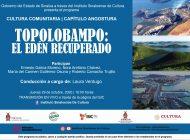 """Cultura Comunitaria del ISIC llega este Jueves con """"Topolobampo: El edén recuperado"""""""