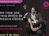 Francisco Bibriesca hablará sobre cómo crear una carrera en música clásica