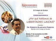 Roberto Blancarte conversará sobre libertades laicas