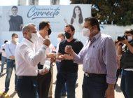 Mario Zamora acompañó a Héctor Orrantia en su registro como precandidato a diputado local