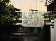 Mantas en puentes de Culiacán fueron protesta por el 8M
