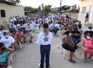 Intensa gira de trabajo de Wendy de Zamora en la zona sur para promover a Mario Zamora