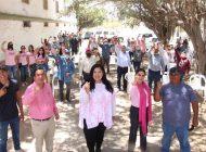 """Rosa Elena Millán en San Ignacio: """"Es tiempo de que haya un cambio"""""""
