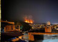 Reportan impactante incendio forestal en Uruapan del Progreso, en Michoacán