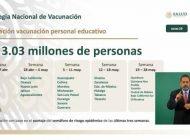 En Sinaloa, vacunarán a maestros entre el 12 y el 18 de mayo