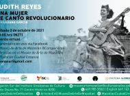 Hablarán sobre la música de Judith Reyes, cantante del movimiento del 86