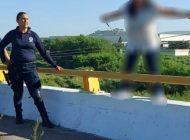 Policías rescatan a mujer que intenta suicidarse en Culiacán